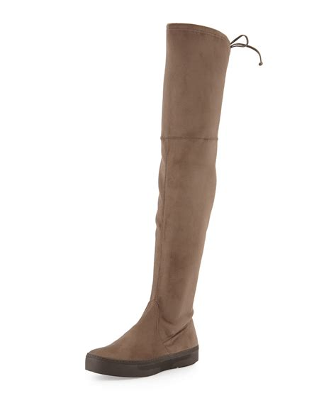 stuart weitzman playtime stretch suede the knee boots