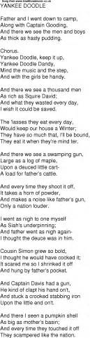 free yankee doodle song time song lyrics for 02 yankee doodle
