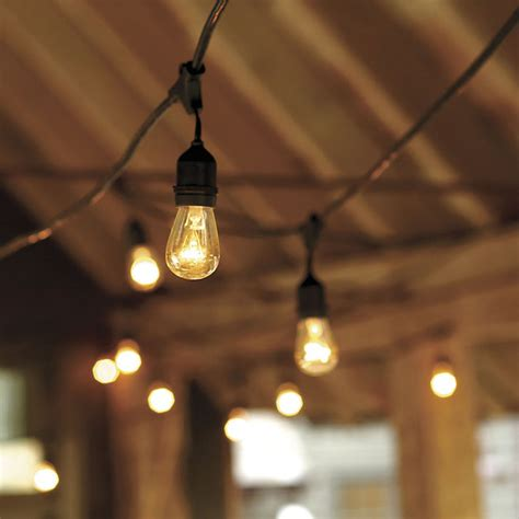 Outdoor Bulb Lights String Vintage String Lights With Bulbs Industrial Outdoor Rope And String Lights By Ballard Designs