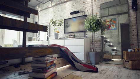 loft interior casual loft style living