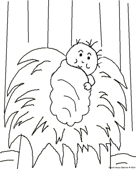 coloring page of baby jesus in a manger the birth of jesus coloring pages