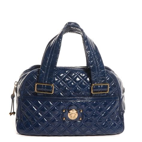 Marc Quilted Goatskin Bowler by Marc Patent Quilted Goat Leather Large Ursula