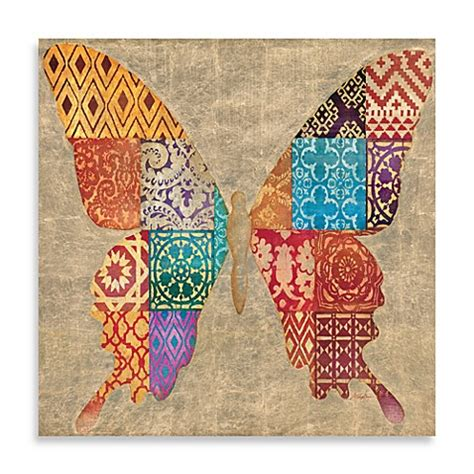 Patchwork Butterfly - buy patchwork butterfly 32 inch x 32 inch canvas print