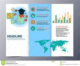 tri fold brochure design templates education and school brochure design template vector flyer
