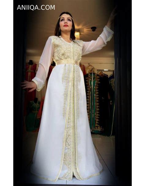 Robe Marocaine Mariage 2018 - caftan 2018 blanc moderne et tendance caftan blanc de
