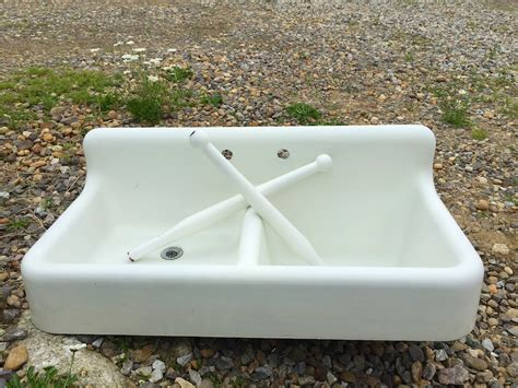 vintage cast iron porcelain sink vintage basin porcelain cast iron sink with legs