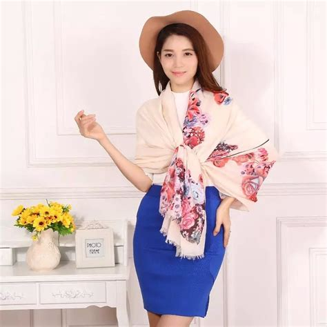 Pashmina Necihijab Pashmina Scraff aliexpress buy beautiful floral print cotton