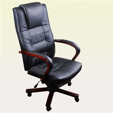 leather office armchair black swivel office chair armchair wood and leather torino