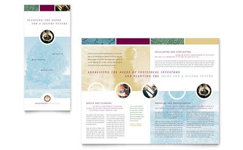 tri fold brochure design layout in adobe illustrator financial consulting tri fold brochure template design