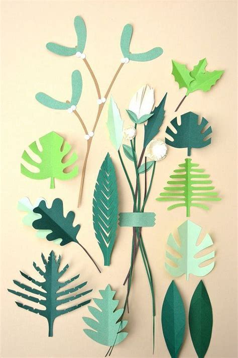 Make Paper Leaves - artesanato papel 60 fotos lindas e passo a passo