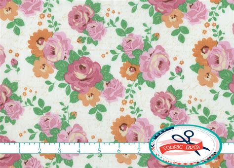 shabby chic fabric by the yard fat quarter cake by fabricbrat