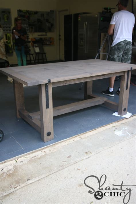 Diy Industrial Farmhouse Table And How To Shanty 2