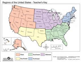 united states map of regions map regions of the united states thirdgradetroop