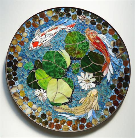 mosaic koi pattern 30 mosaic koi pond stained glass mosaic art por