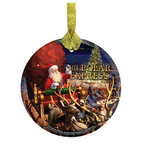 the polar express santa starfire prints hanging glass