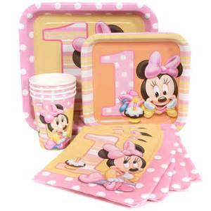 minnie mouse supplies minnie mouse 1st birthday supplies package for 8 at dollar carousel