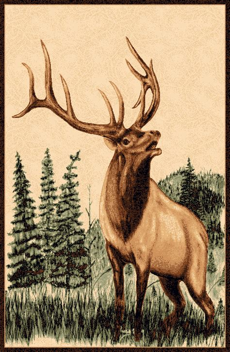 elk rugs for sale bugling elk rug 4 x 5