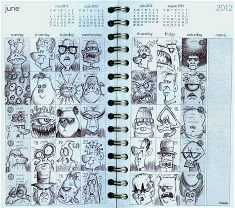 doodle diary calendar bob canada s blogworld june journal doodles