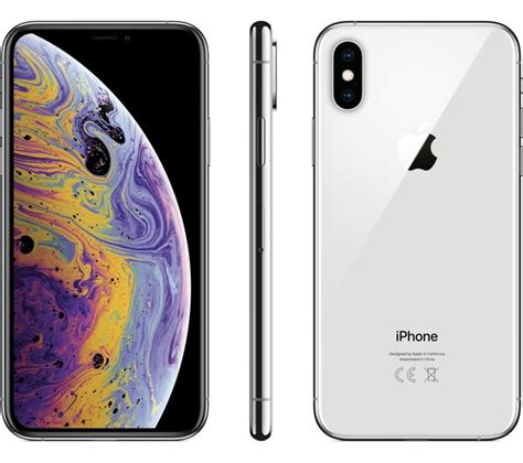 buy apple iphone xs 512 gb silver free delivery currys