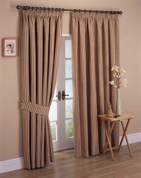 White Curtains With Brown Pattern Curtain Designs For Windows Wooden Floor White Glass Door Brown Wall Brown Pattern Curtains