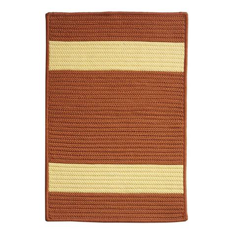Home Decorators Outdoor Rugs Home Decorators Collection Cafe 11 Ft X 11 Ft Rust Yellow Indoor Outdoor Braided Area