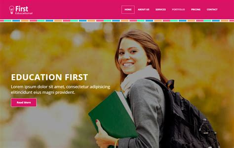 latest educational free web template webthemez