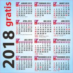 Kalender 2018 Indonesia Libur Gratis Kalender 2018 Plus Libur Nasional Versi Corel Draw