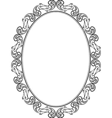 frame oval vector on vectorstock mirror pinterest
