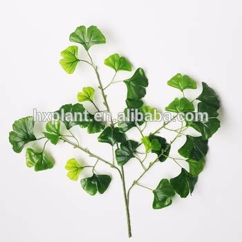 indoor artificial gingko tree branches artificial leaves