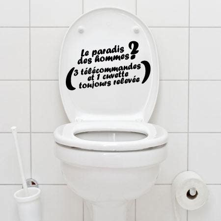 stickers wc paradis des hommes stickers malin