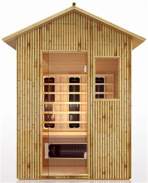 Backyard Infrared Sauna by 3 Person Bamboo All Weather Outdoor Far Infrared Sauna