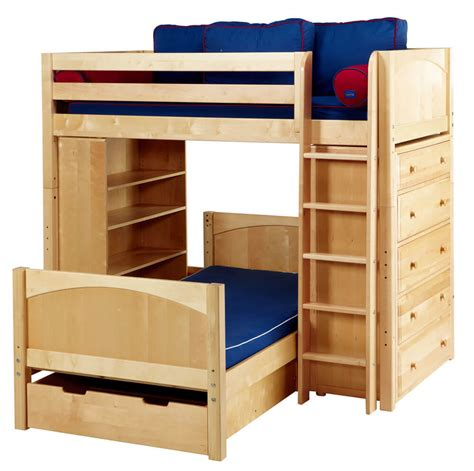 bunk bed with dresser 21 top wooden l shaped bunk beds with space saving features