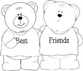 pics photos best friends coloring pages sketch template