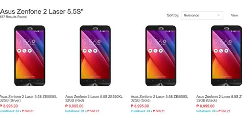 Hp Asus Zenfone 2 Laser Di Lazada asus zenfone 2 laser 5 5 s now in stores and lazada philippines for 8995 pesos