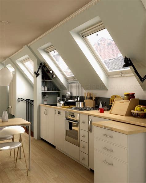 Attic Kitchen Ideas | interior design attic kitchen