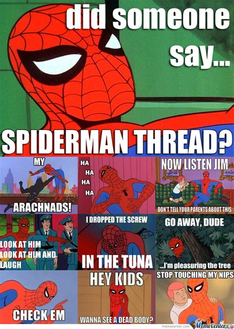 spiderman thread by killacack meme center