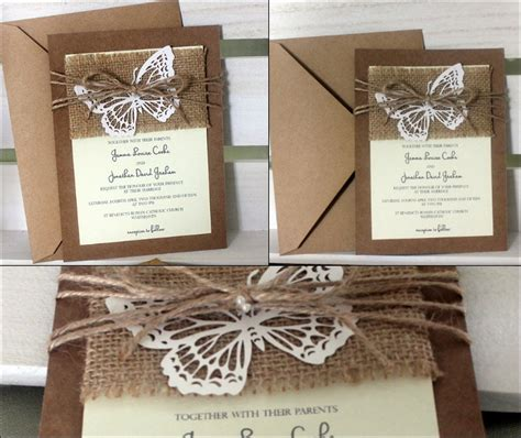 Kalung B296 Simple Rustic Butterfly 10 Butterfly Wedding Invitations What S Your Favourite