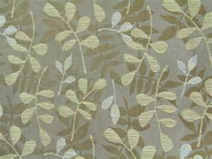 Green Leather Upholstery Fabric Fabric Texture Brown Leaf Print Nature Branch Cloth