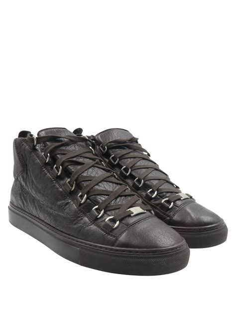 balenciaga brown leather arena high top sz 9 5 43 shoes products shoes brown leather
