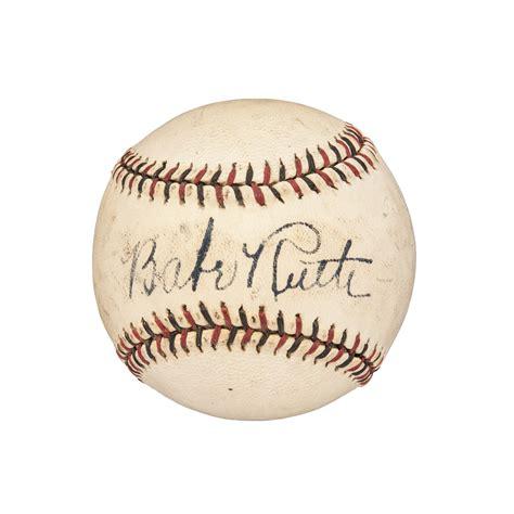 Lot Detail Very Bold Babe Ruth Single Signed Baseball