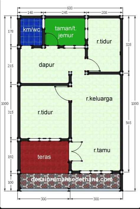 desain rumah ukuran 6x10 foto rumah minimalis ukuran 6x10 gambar om