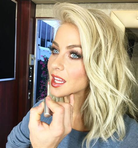 pretty hairstyles instagram blonde lob smokey blue eyes via julianne hough on