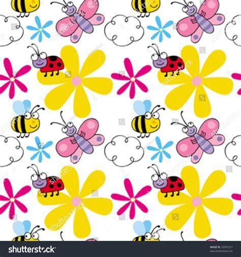 seamless pattern fill illustrator jolly bugs seamless vector pattern can stock vector