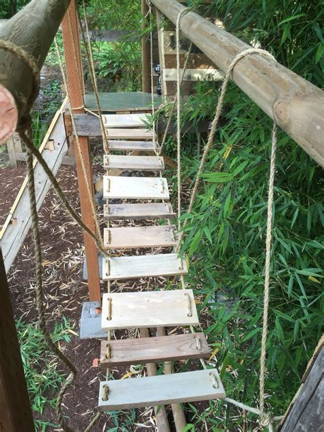 backyard rope bridge best 20 pallet fort ideas on pinterest