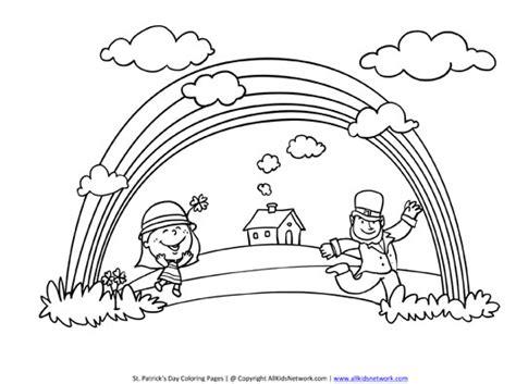 rainbow coloring page with leprechaun rainbow and leprechaun pages coloring pages