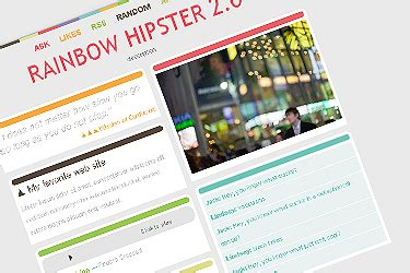 tumblr themes large posts rainbow hipster v2 3 tumblr