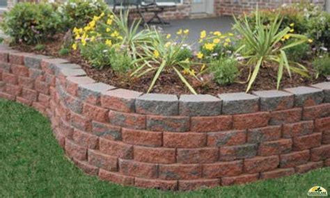 retaining wall  multi color block blockwall