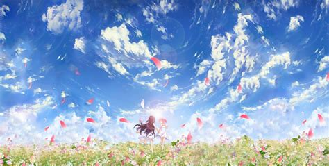 anime wallpapers and backgrounds anime flowers clouds wallpapers hd desktop and mobile