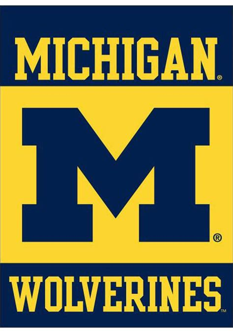 michigan wolverines colors michigan wolverines 30x40 silk screen banner 280165