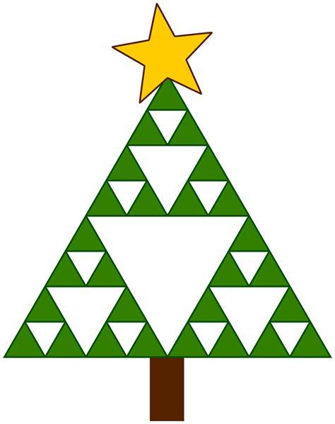 christmas tree triangle pattern clipart sierpinski xmas tree